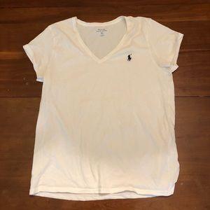 POLO- size XL white v neck ss